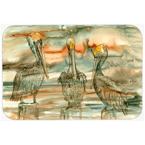 Carolines Treasures 8980MP Pelicans on their perch Abstract Mouse Pad Hot Pad or Trivet