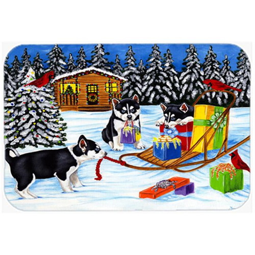 Carolines Treasures AMB1318MP Christmas Mush Siberian Husky Mouse Pad Hot Pad or Trivet