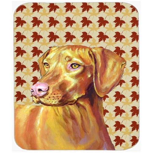 Carolines Treasures LH9100MP Vizsla Fall Leaves Portrait Mouse Pad Hot Pad Or Trivet