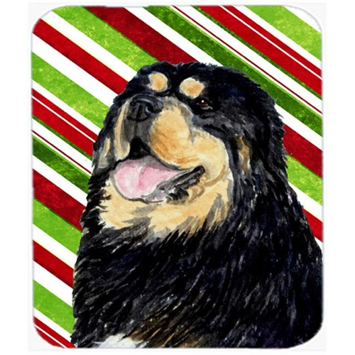 Carolines Treasures SS4581MP Tibetan Mastiff Candy Cane Holiday Christmas Mouse Pad Hot Pad Or Trivet