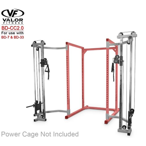 Valor Fitness BD-CC2.0 Cage Cable Crossover with 2.0 in. Frame Silver