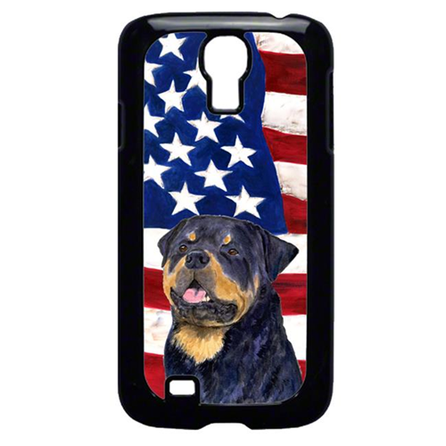 Carolines Treasures SS4009GALAXYS4 USA American Flag with Rottweiler Cell Phone Cover GALAXY S4