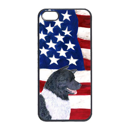 Carolines Treasures SS4005IP4 USA American Flag With Akita Iphone 4 Cover