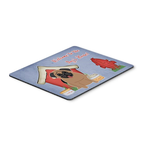 Carolines Treasures BB2759MP Dog House Collection Pug Brown Mouse Pad Hot Pad or Trivet