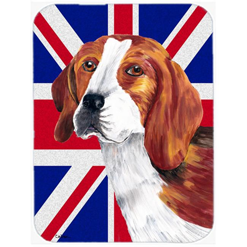 Carolines Treasures SC9826MP 7.75 x 9.25 In. Beagle With English Union Jack British Flag Mouse Pad Hot Pad Or Trivet