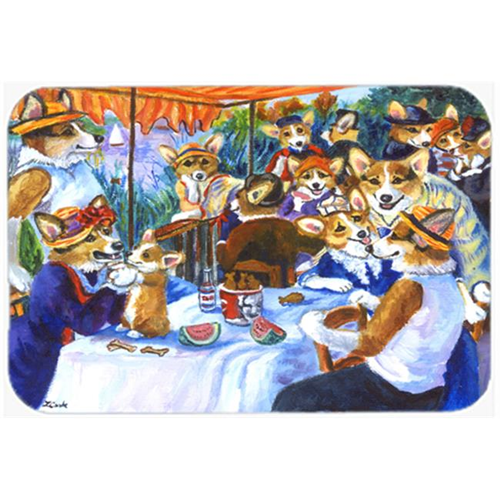 Carolines Treasures 7321MP Corgi Boating Party Mouse Pad Hot Pad & Trivet