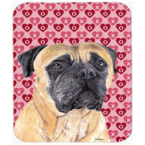 Carolines Treasures SC9255MP Mastiff Hearts Love And Valentines Day Portrait Mouse Pad Hot Pad Or Trivet
