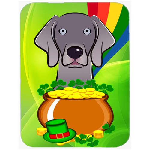 Carolines Treasures BB1975MP Weimaraner St. Patricks Day Mouse Pad Hot Pad or Trivet