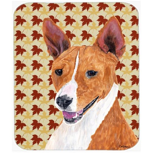 Carolines Treasures SC9227MP 9.5 x 8 in. Basenji Fall Leaves Portrait Mouse Pad Hot Pad or Trivet