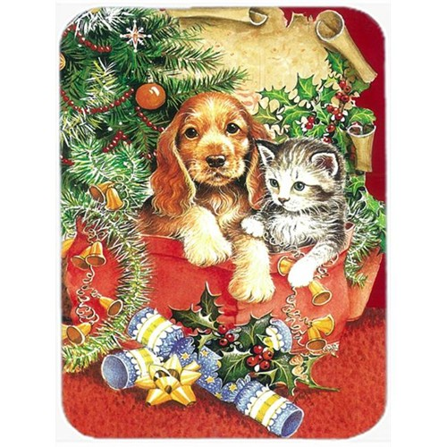 Carolines Treasures APH7551MP Christmas Puppy & Kitten Mouse Pad Hot Pad or Trivet