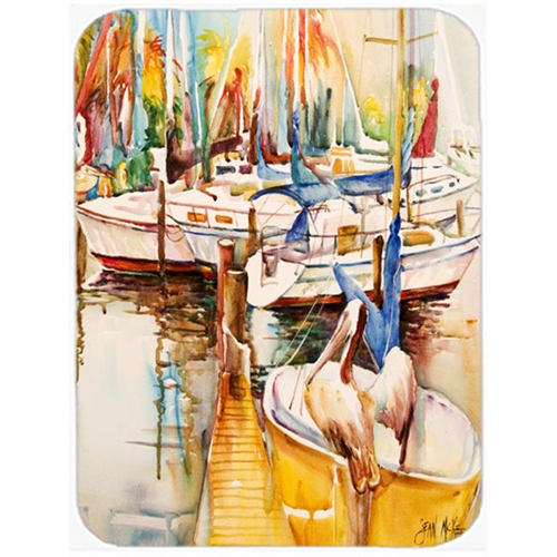 Carolines Treasures JMK1160MP Sailboats And Pelicans Mouse Pad Hot Pad & Trivet