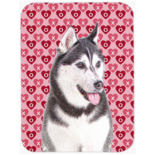 Carolines Treasures KJ1189MP Hearts Love and Valentines Day Alaskan Malamute Mouse Pad Hot Pad or Trivet