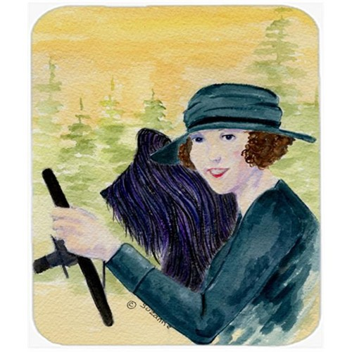 Carolines Treasures SS8549MP Lady Driving With Her Briard Mouse Pad Hot Pad Or Trivet