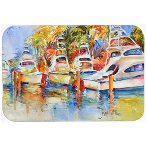 Carolines Treasures JMK1052MP Deep Sea Fishing Boats At The Dock Mouse Pad Hot Pad & Trivet