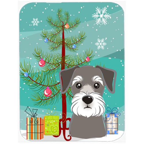 Carolines Treasures BB1578MP Christmas Tree And Schnauzer Mouse Pad Hot Pad & Trivet