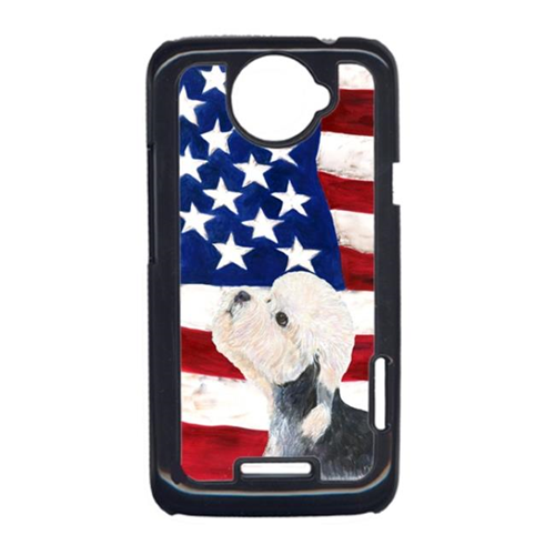 Carolines Treasures SS4030HTCONE USA American Flag With Dandie Dinmont Terrier HTC One X Cell Phone Cover
