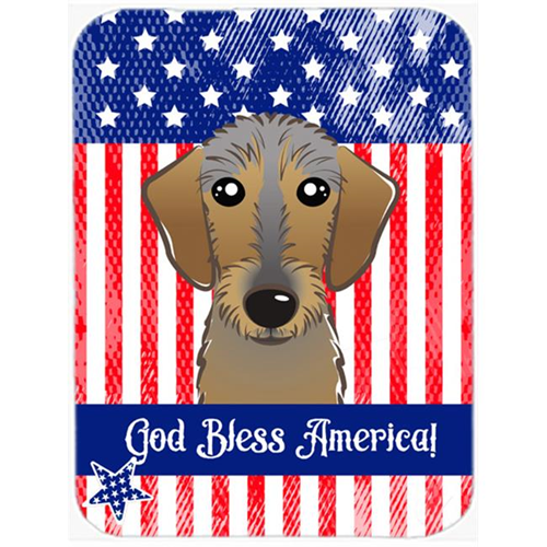 Carolines Treasures BB2164MP God Bless American Flag with Chocolate Labrador Mouse Pad Hot Pad or Trivet