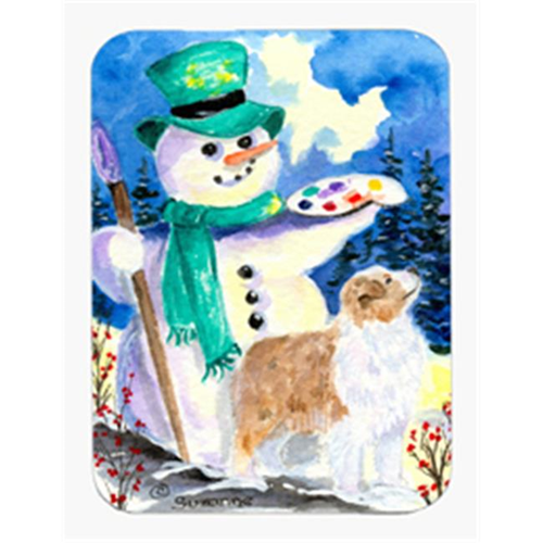 Carolines Treasures SS8996MP Snowman with Australian Shepherd Mouse Pad & Hot Pad & Trivet