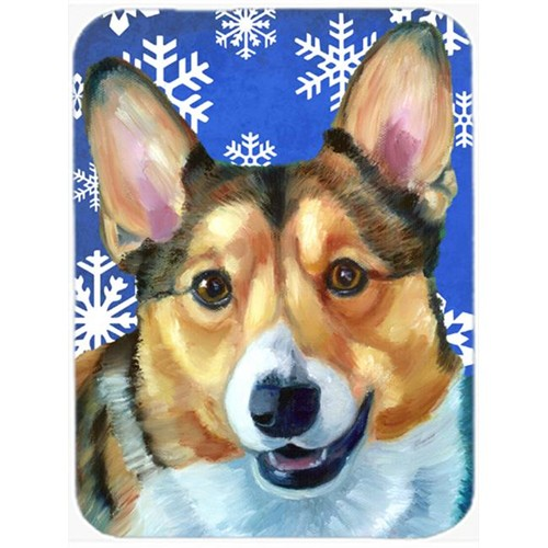 Carolines Treasures LH9588MP Corgi Winter Snowflakes Holiday Mouse Pad Hot Pad & Trivet