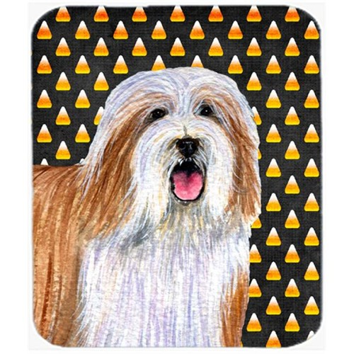 Carolines Treasures LH9071MP Bearded Collie Candy Corn Halloween Portrait Mouse Pad Hot Pad or Trivet