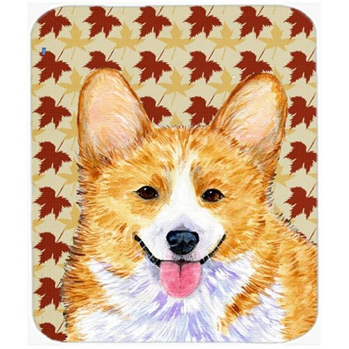 Carolines Treasures SS4370MP Corgi Fall Leaves Portrait Mouse Pad Hot Pad Or Trivet