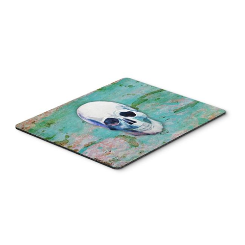 Carolines Treasures BB5123MP Day of the Dead Teal Skull Mouse Pad Hot Pad or Trivet