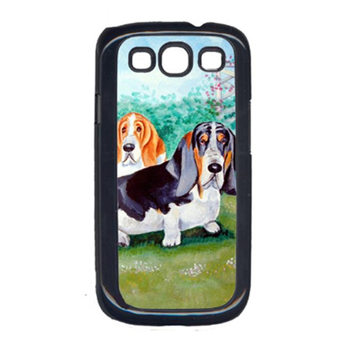 Carolines Treasures 7061GALAXYSIII Basset Hound Double Trouble Cell Phone Cover Galaxy S111