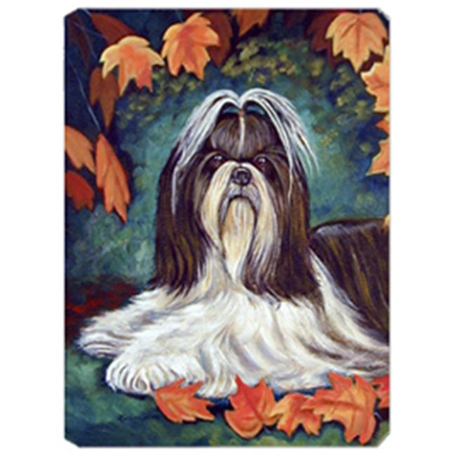 Carolines Treasures 7182MP 8 x 9.5 in. Autumn Leaves Shih Tzu Mouse Pad Hot Pad or Trivet