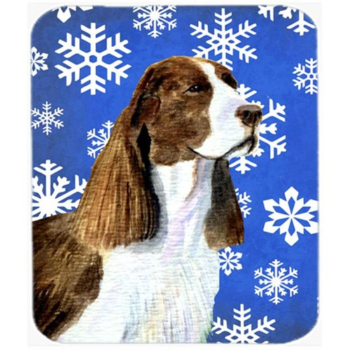 Carolines Treasures SS4651MP Springer Spaniel Winter Snowflakes Holiday Mouse Pad Hot Pad or Trivet