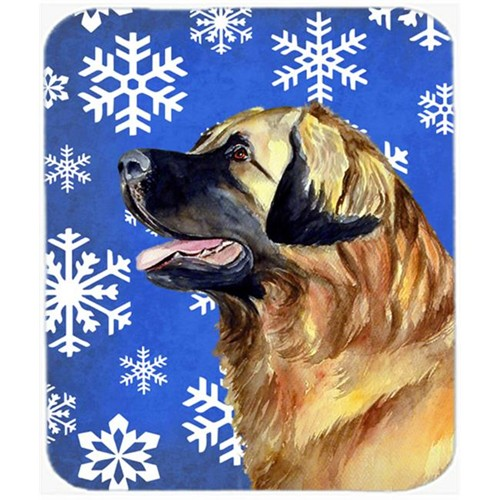 Carolines Treasures LH9303MP Leonberger Winter Snowflakes Holiday Mouse Pad Hot Pad Or Trivet - 7.75 x 9.25 In.