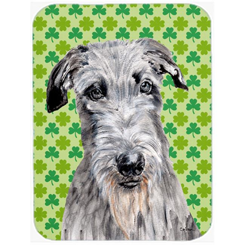 Carolines Treasures SC9730MP Scottish Deerhound Lucky Shamrock St. Patricks Day Mouse Pad Hot Pad Or Trivet 7.75 x 9.25 In.