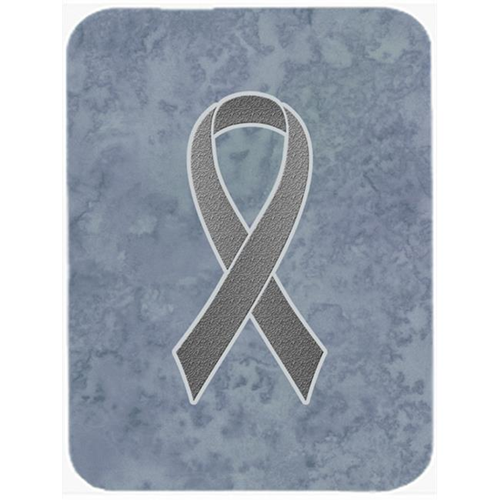 Carolines Treasures AN1211MP 7.75 x 9.25 In.Grey Ribbon for Brain Cancer Awareness Mouse Pad Hot Pad or Trivet