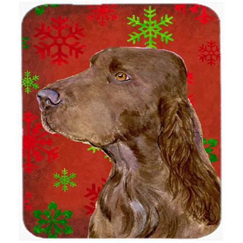 Carolines Treasures SS4732MP Field Spaniel Red and Green Snowflakes Christmas Mouse Pad Hot Pad or Trivet