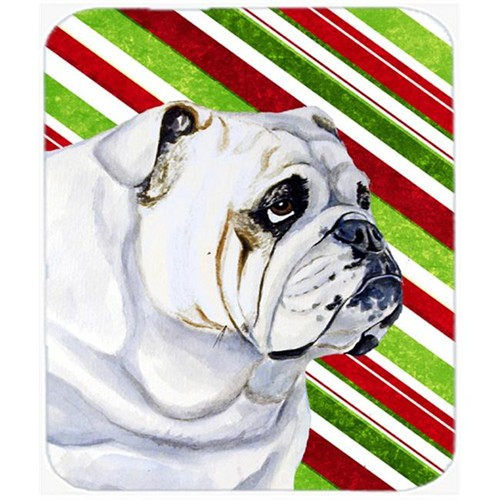Carolines Treasures LH9229MP Bulldog English Candy Cane Holiday Christmas Mouse Pad Hot Pad Or Trivet