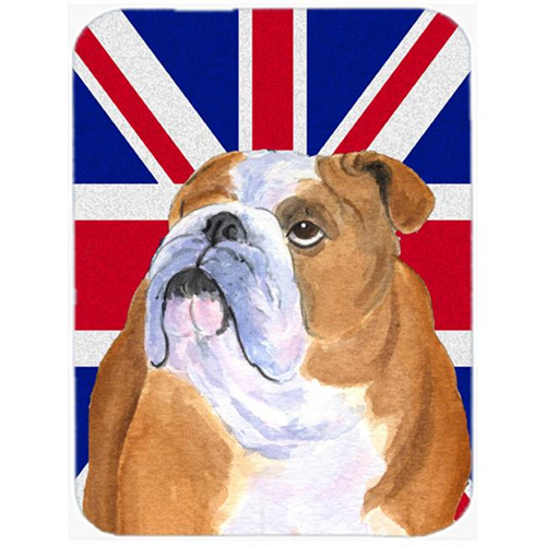 Carolines Treasures SS4933MP 7.75 x 9.25 In. English Bulldog With English Union Jack British Flag Mouse Pad Hot Pad Or Trivet