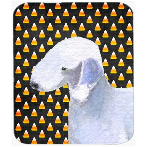 Carolines Treasures SS4276MP Bedlington Terrier Candy Corn Halloween Portrait Mouse Pad Hot Pad Or Trivet