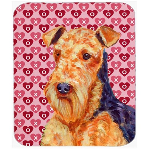 Carolines Treasures LH9156MP Airedale Hearts Love And Valentines Day Portrait Mouse Pad Hot Pad or Trivet