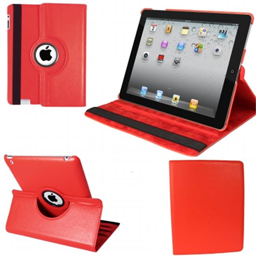Natico 60-IM360-RD IPAD MINI 360 CASE FAUX RED
