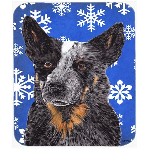 Carolines Treasures SC9396MP Australian Cattle Dog Winter Snowflakes Holiday Mouse Pad Hot Pad or Trivet