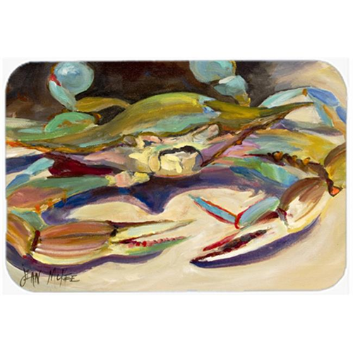 Carolines Treasures JMK1101MP Blue Crab Tail Fin Mouse Pad Hot Pad & Trivet