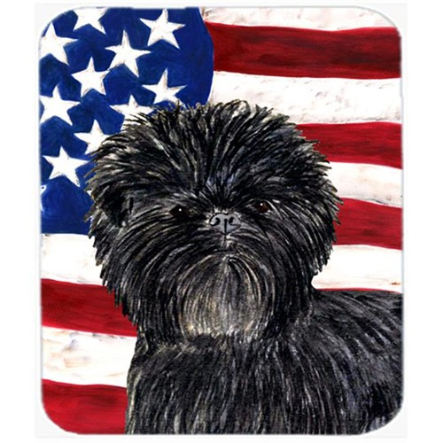 Carolines Treasures SS4038MP Usa American Flag With Affenpinscher Mouse Pad Hot Pad Or Trivet