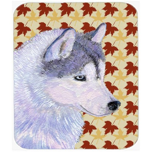 Carolines Treasures SS4392MP Siberian Husky Fall Leaves Portrait Mouse Pad Hot Pad Or Trivet