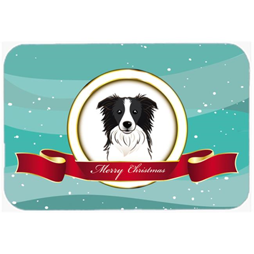 Carolines Treasures BB1551MP Border Collie Merry Christmas Mouse Pad Hot Pad & Trivet