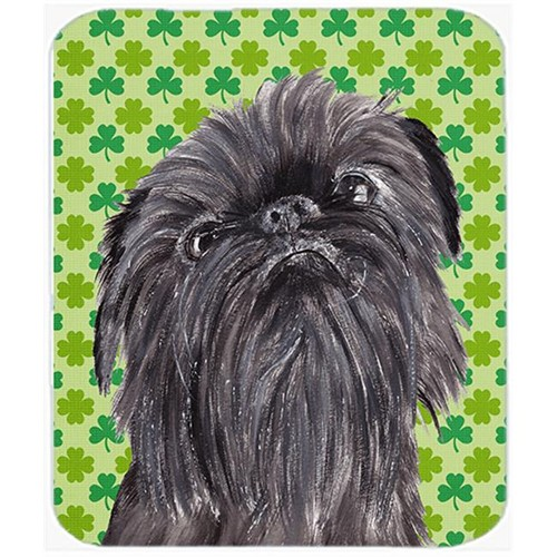 Carolines Treasures SC9573MP 7.75 x 9.25 in. Brussels Griffon St Patricks Irish Mouse Pad Hot Pad or Trivet