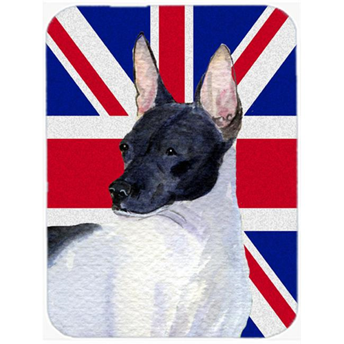 Carolines Treasures SS4922MP 7.75 x 9.25 In. Rat Terrier With English Union Jack British Flag Mouse Pad Hot Pad Or Trivet