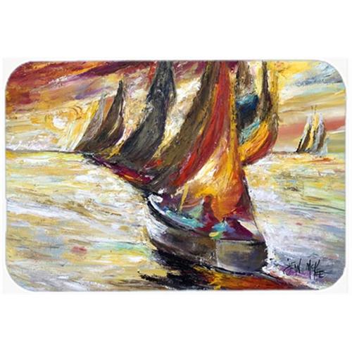 Carolines Treasures JMK1062MP Red Sails Sailboat Mouse Pad Hot Pad & Trivet