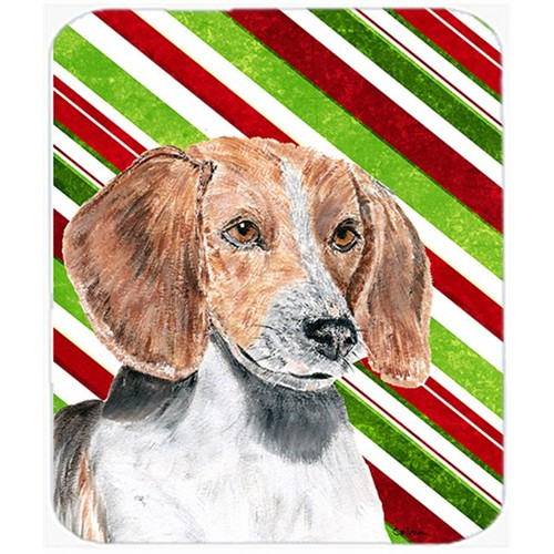 Carolines Treasures SC9621MP English Foxhound Candy Cane Christmas Mouse Pad Hot Pad Or Trivet