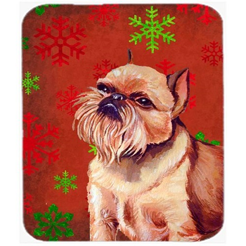 Carolines Treasures LH9314MP Brussels Griffon Snowflakes Christmas Mouse Pad Hot Pad Or Trivet - 7.75 x 9.25 In.