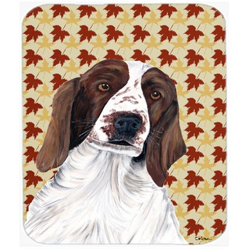 Carolines Treasures SC9220MP Welsh Springer Spaniel Fall Leaves Portrait Mouse Pad Hot Pad or Trivet