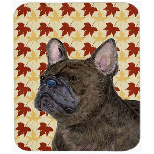 Carolines Treasures SS4337MP French Bulldog Fall Leaves Portrait Mouse Pad Hot Pad Or Trivet